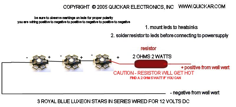 quickar electronics how to hook up leds choosing the correct rh quickar com Christmas LED Light Wiring Diagram Basic LED Wiring