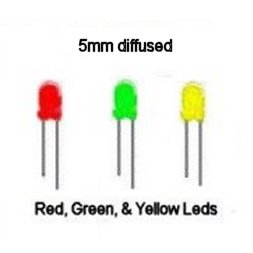 N SCALE YELLOW FLASHING LEDS 3MM DIFFUSED for ROTARY BEACONS CONSTRUCTION ZONES