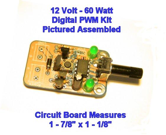 New Digital 12 Volt 5 Amp 60 Watt Pwm Kit For Dc Motor